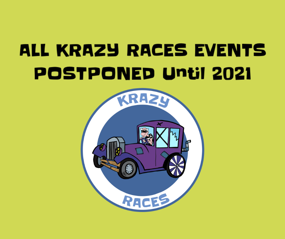 All Krazy Races events postponed till next year!